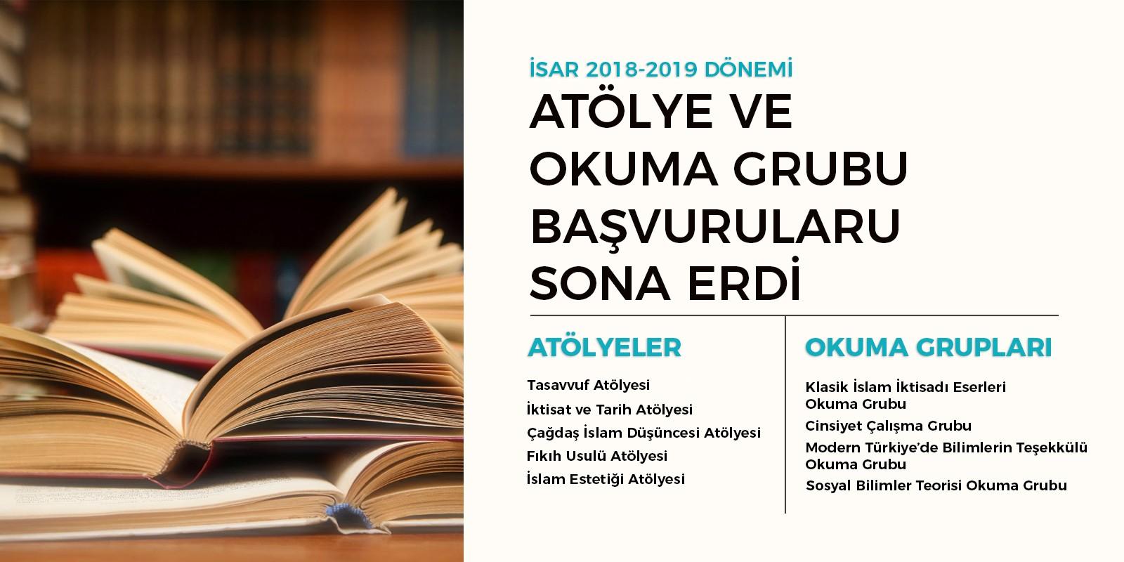 İSAR 2018-2019 Okuma Grupları ve Atölye Başvuruları Sona Erdi