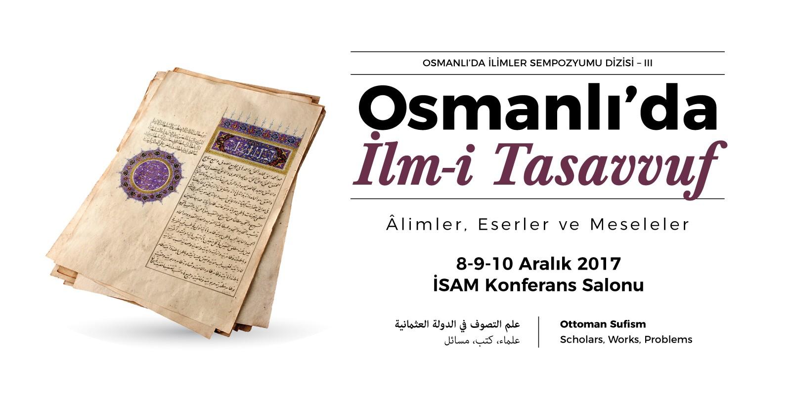 Osmanlı'da İlm-i Tasavvuf Sempozyumu
